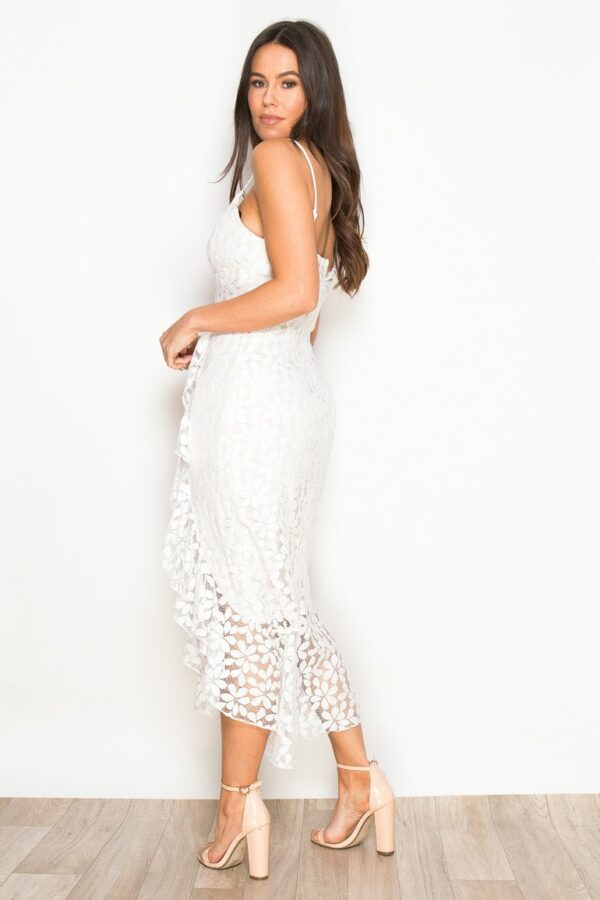 Midaxi Dress White Lace U Sassy Thing
